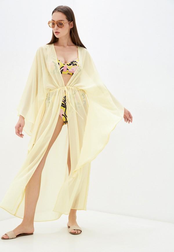 Туника пляжная TrendyAngel желтого цвета