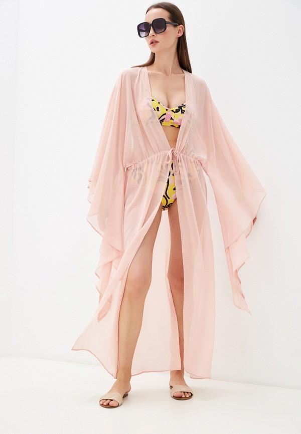 Туника пляжная TrendyAngel розового цвета