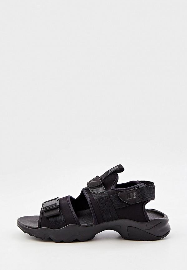 мужские сандалии nike, черные