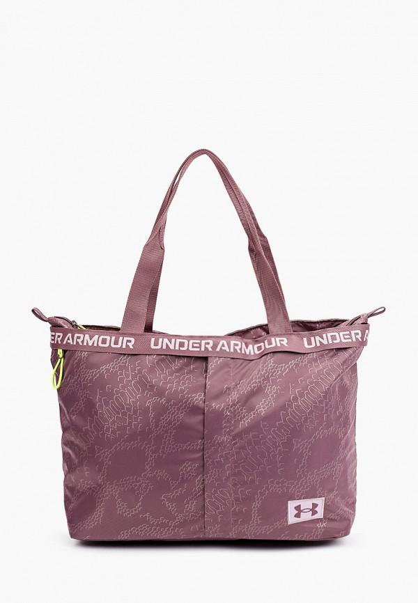женская спортивные сумка under armour, фиолетовая