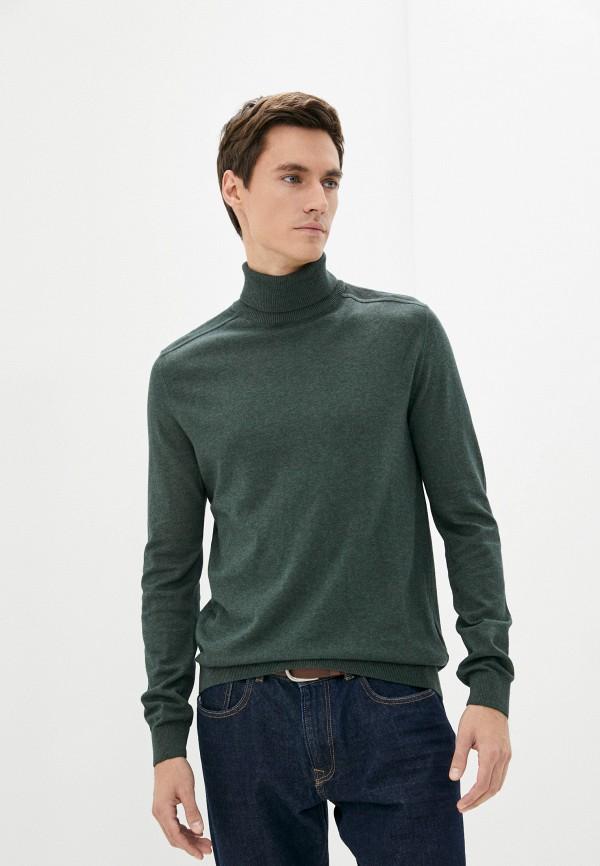 мужская водолазка selected homme, зеленая