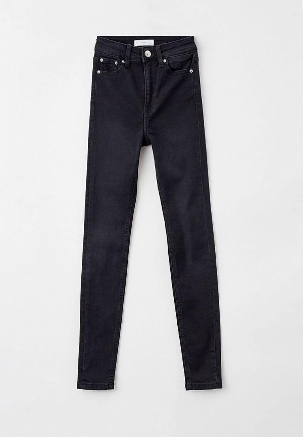 джинсы скинни mango kids для девочки, черные