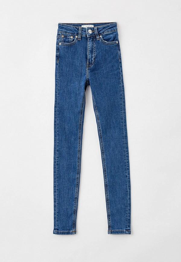 джинсы скинни mango kids для девочки, синие