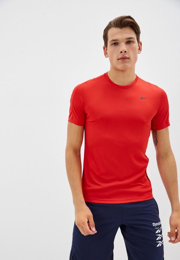 Футболка спортивная Reebok красного цвета