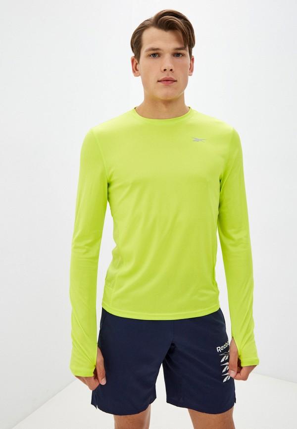 Лонгслив спортивный Reebok зеленого цвета