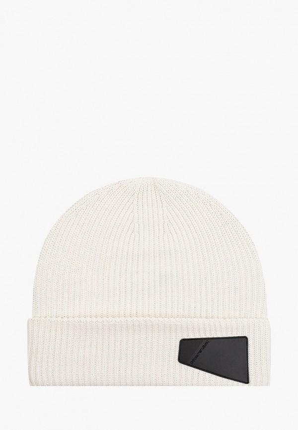 шапка emporio armani для мальчика, белая