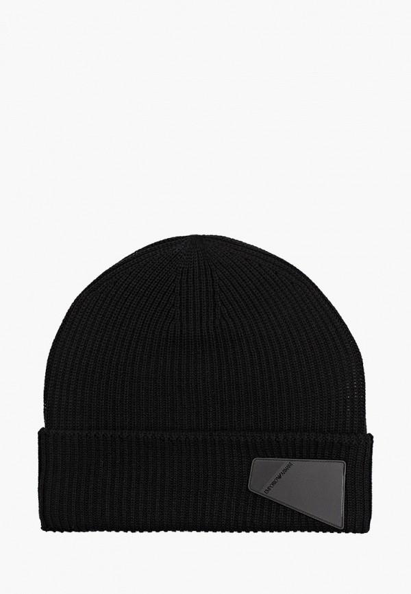шапка emporio armani для мальчика, черная