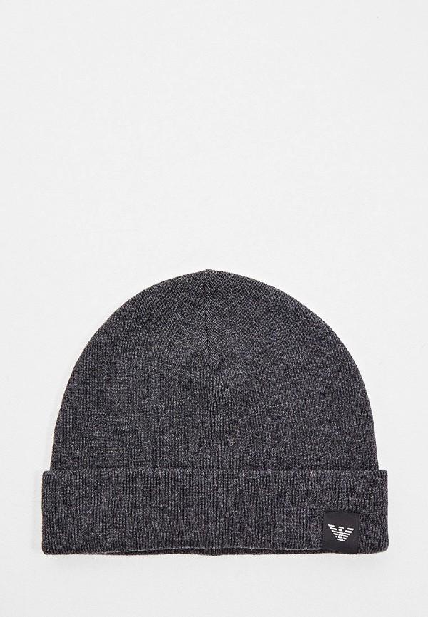 мужская шапка emporio armani, серая