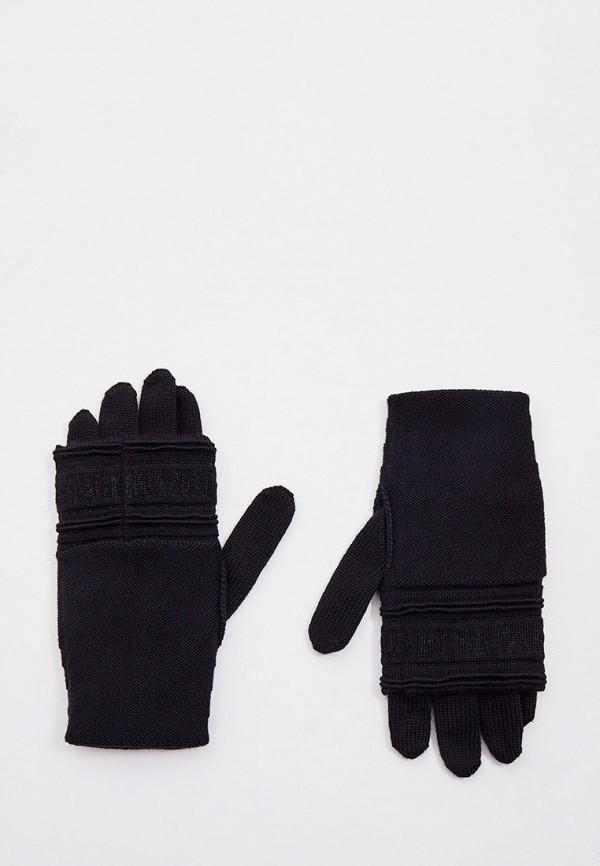 женские текстильные перчатки emporio armani, черные