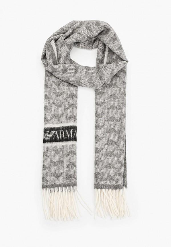 женский шарф emporio armani, серый