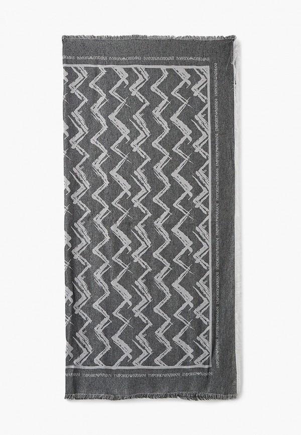 женский платок emporio armani, серый