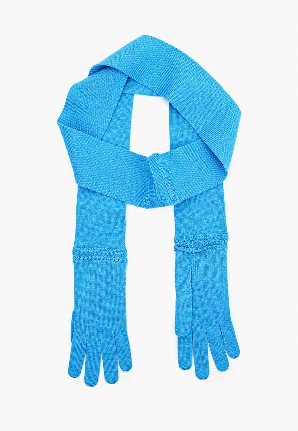 женские текстильные перчатки vivetta, голубые