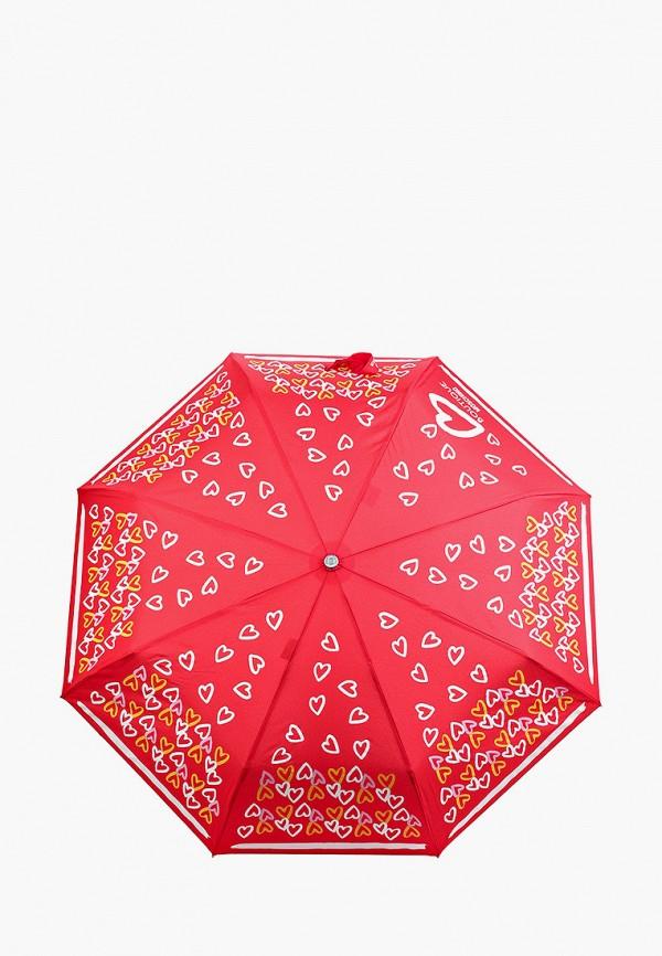 женский складные зонт boutique moschino, красный
