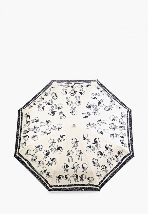 женский складные зонт boutique moschino, бежевый