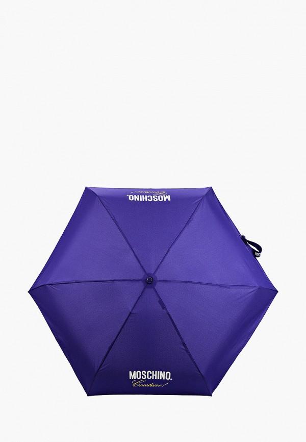 женский зонт moschino, фиолетовый