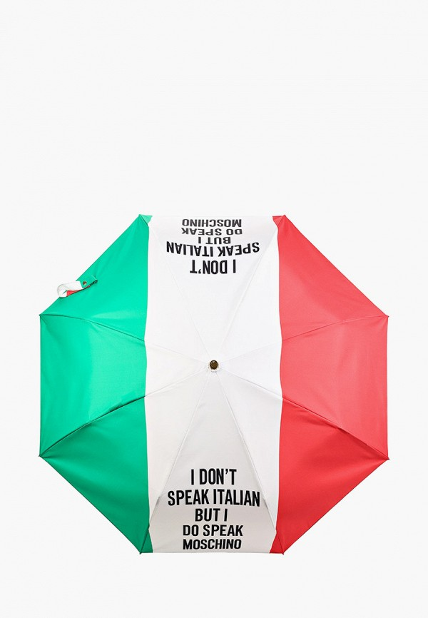 женский складные зонт moschino, разноцветный