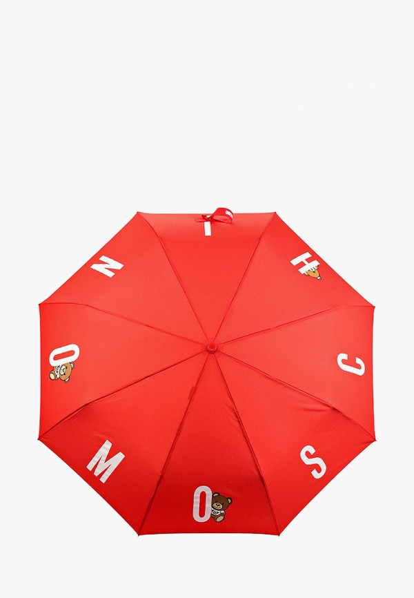 женский складные зонт moschino, красный