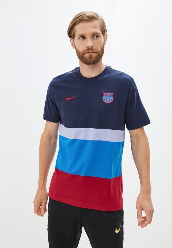 мужская футболка с коротким рукавом nike, синяя