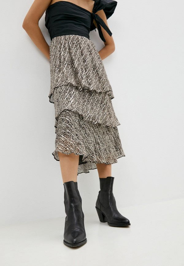 женская юбка-трапеции pinko, бежевая