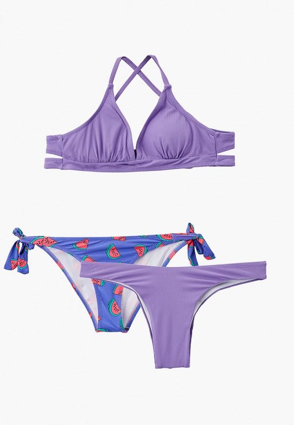 женский купальник rene santi, фиолетовый