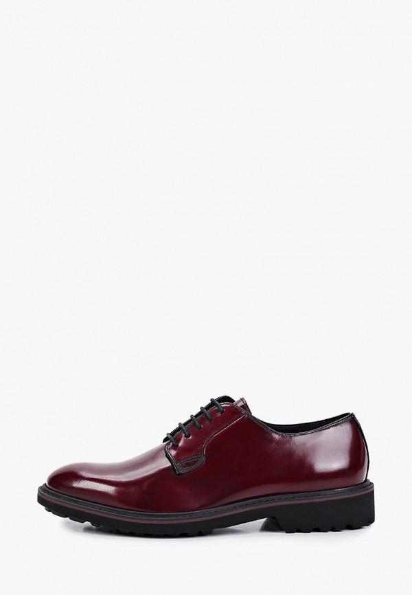 мужские туфли geox, бордовые
