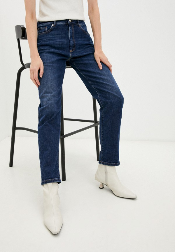 женские джинсы бойфренд sportmax, синие