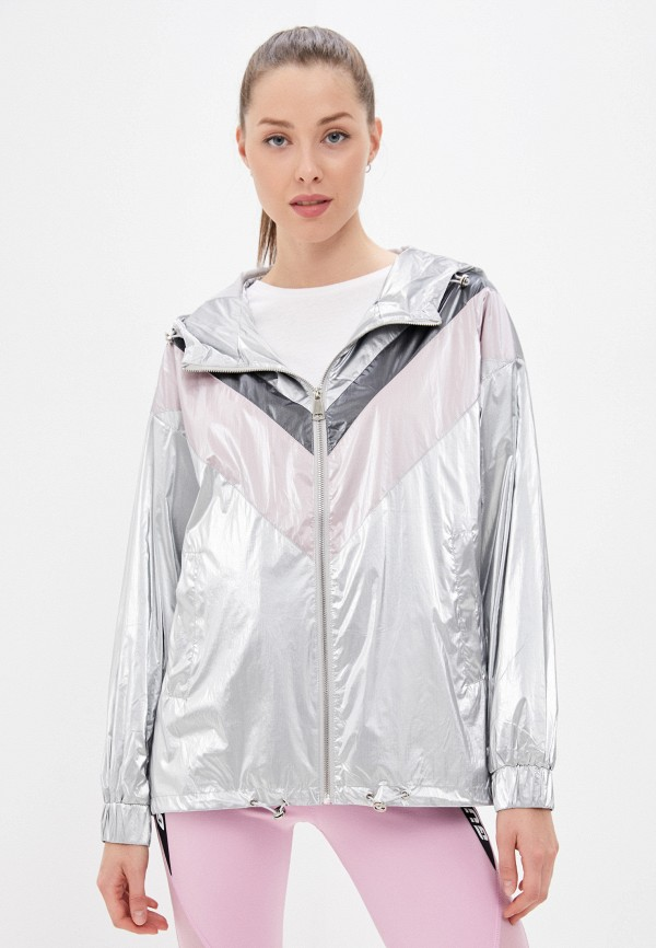 женская легкие куртка softy, серебряная