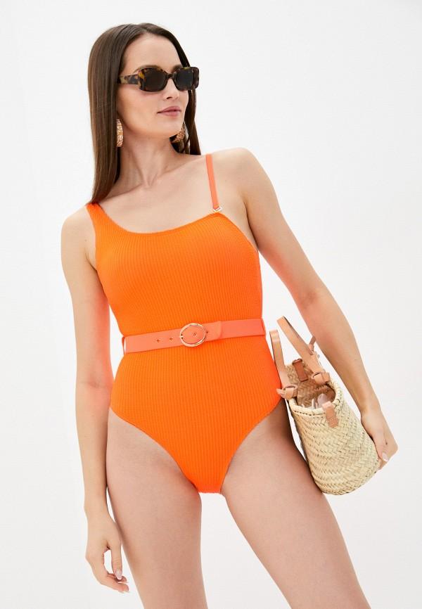 женский купальник rene santi, оранжевый