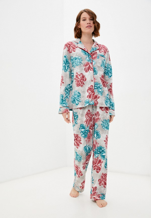 женская пижама rene santi, серая
