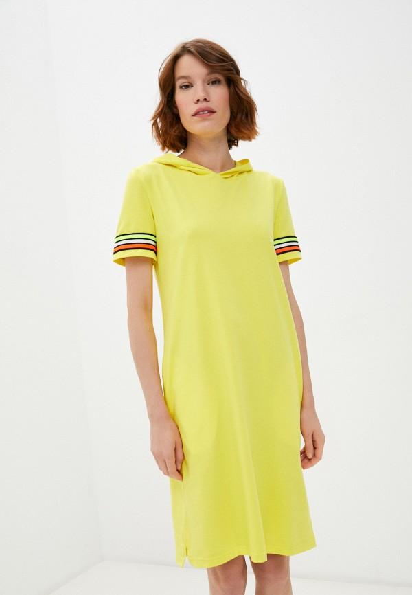женское платье-футболки rene santi, желтое