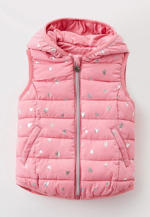 утепленные жилет blukids для девочки, розовый