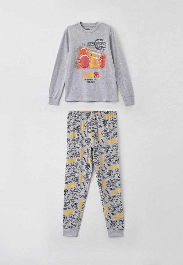 пижама blukids для мальчика, серая