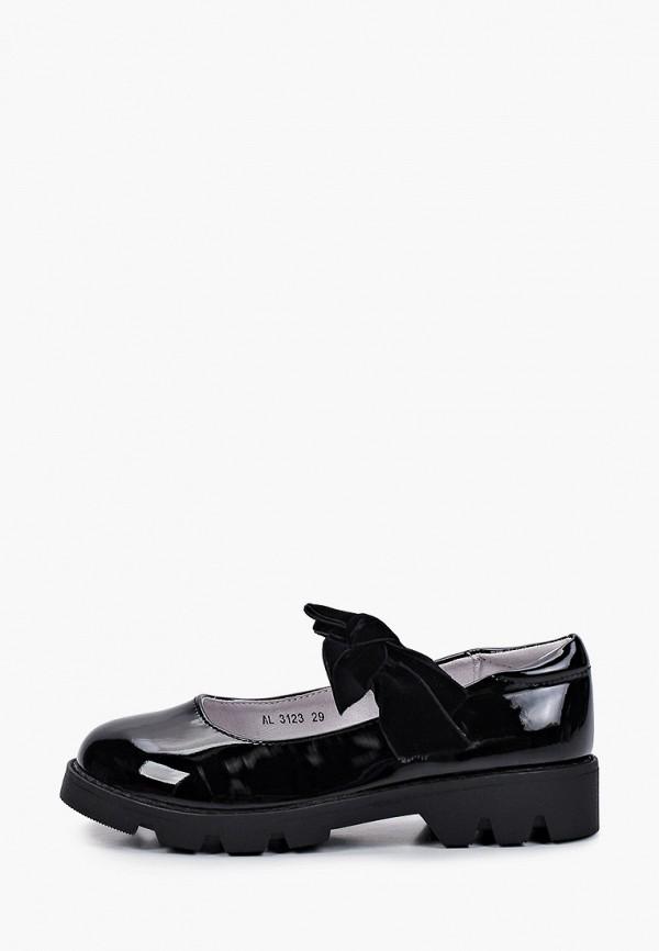туфли antilopa для девочки, черные