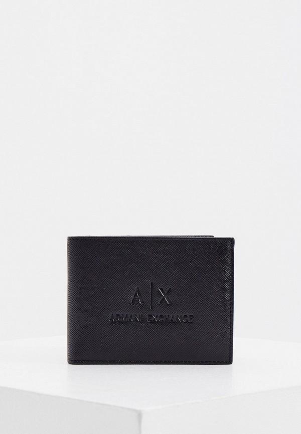 мужской кошелёк armani exchange, черный