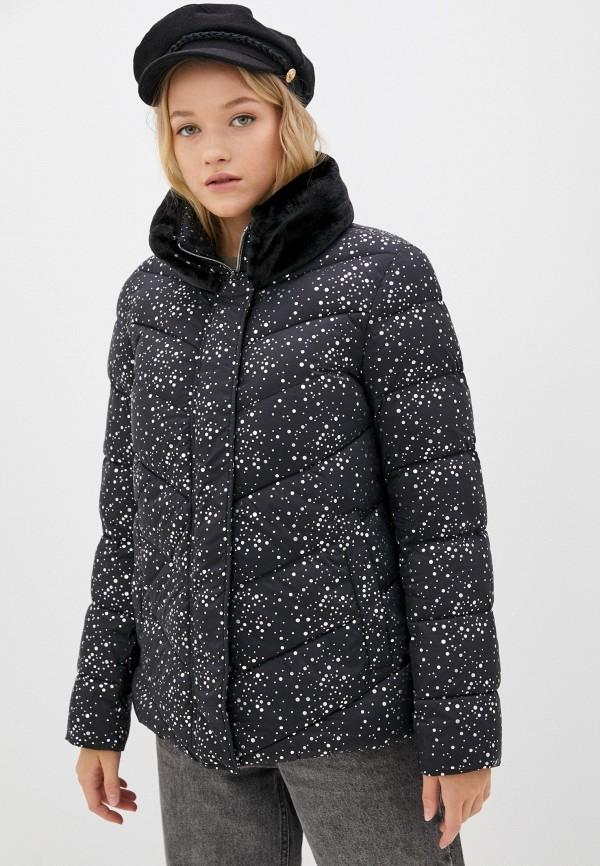 Куртка утепленная Madzerini черного цвета