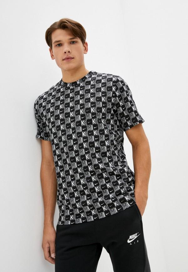 мужская футболка с коротким рукавом nike, черная