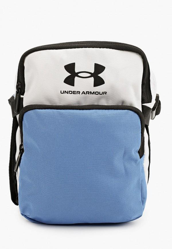 женская сумка через плечо under armour, голубая