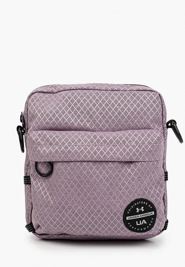 женская сумка через плечо under armour, розовая