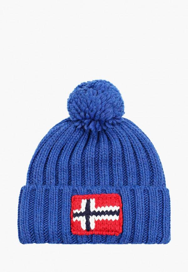 мужская шапка napapijri, синяя