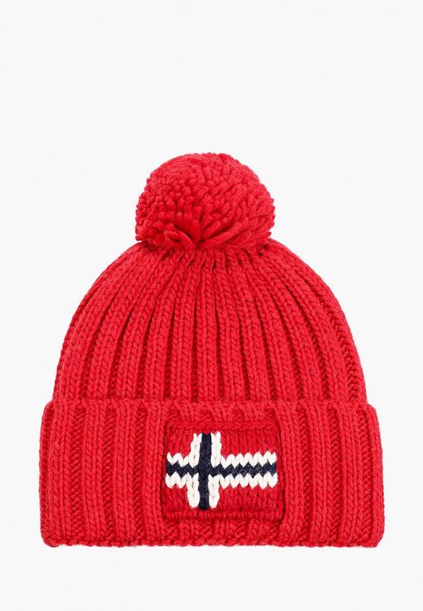 мужская шапка napapijri, красная