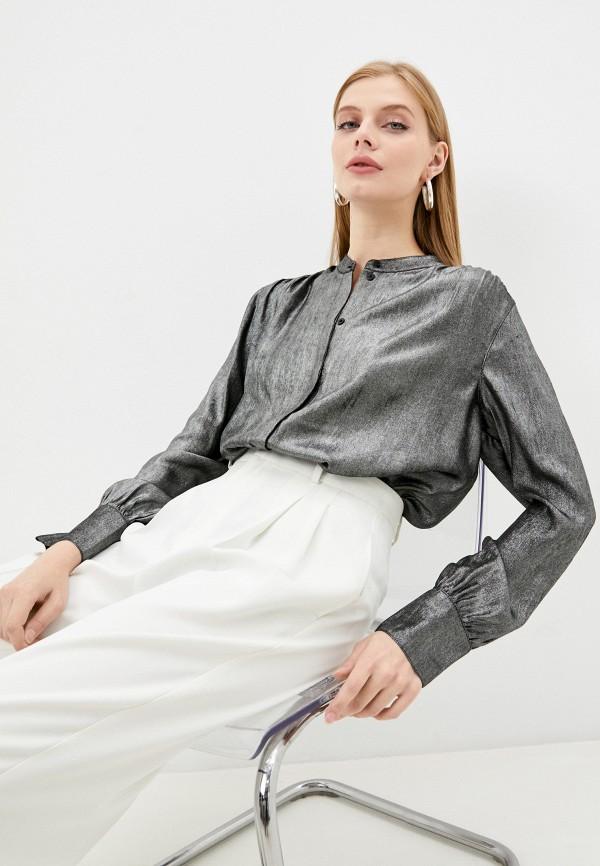 женская блузка с длинным рукавом gerry weber, серебряная