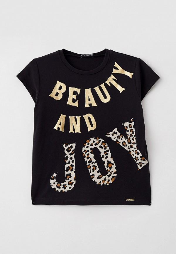 футболка с коротким рукавом liu jo для девочки, черная