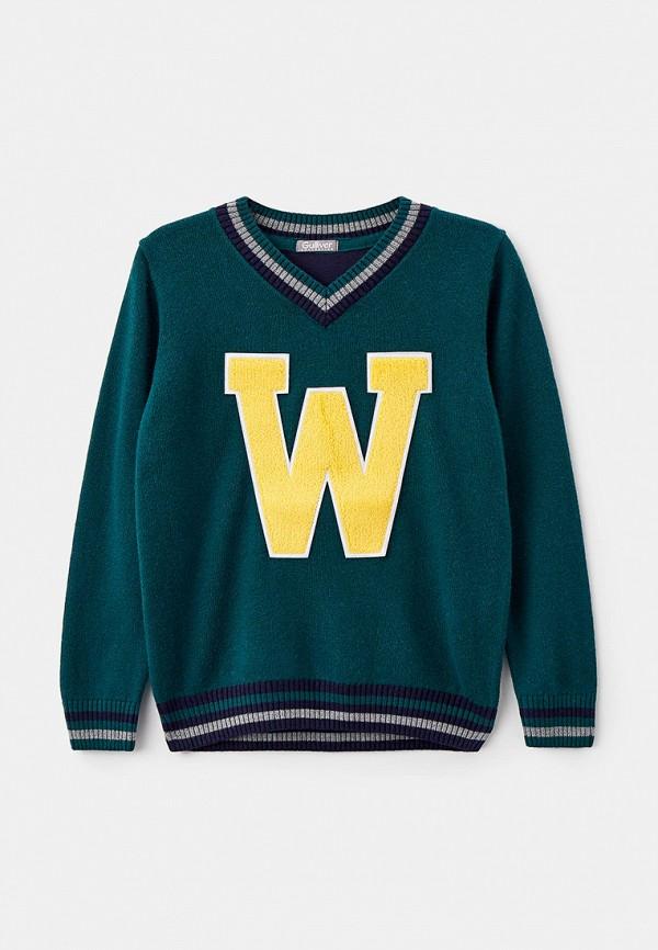 пуловер gulliver для мальчика, зеленый