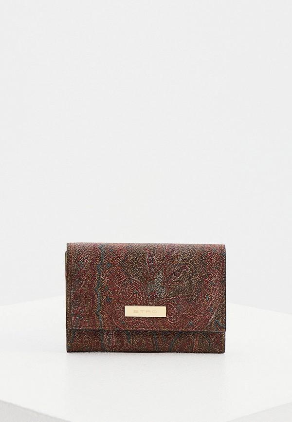 женский кошелёк etro, коричневый