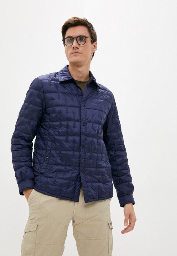 Пуховик Woolrich синего цвета