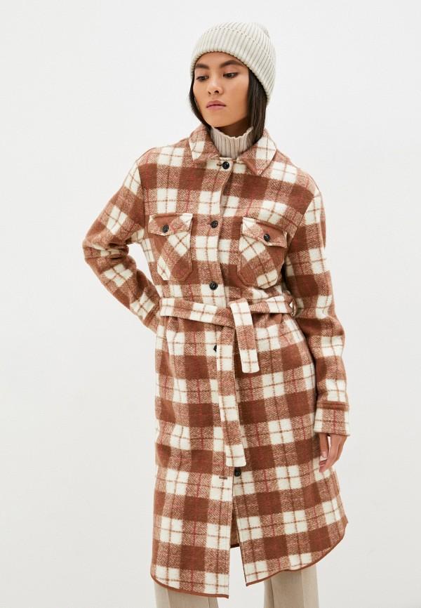 Пальто Woolrich коричневого цвета