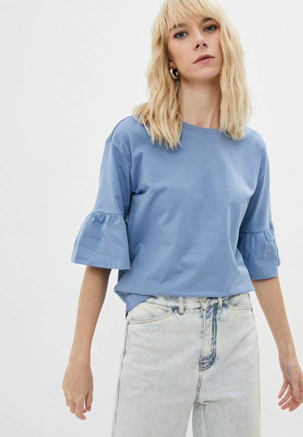 женская футболка emme marella, голубая