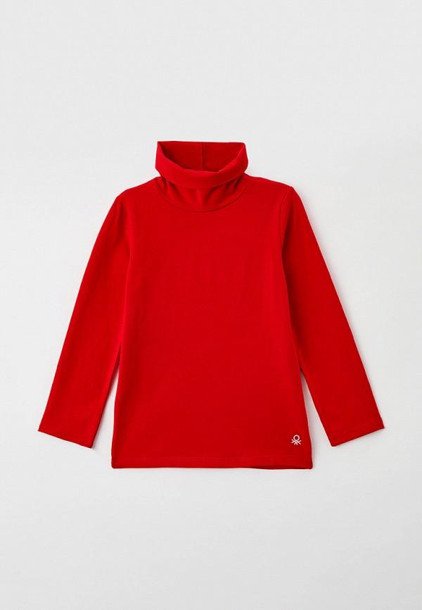 водолазка united colors of benetton для девочки, красная
