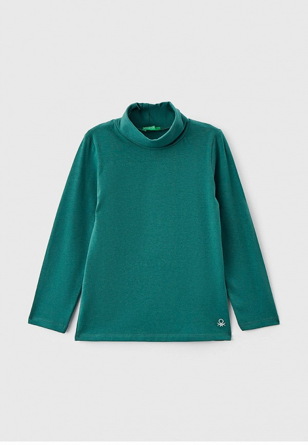 водолазка united colors of benetton для девочки, зеленая