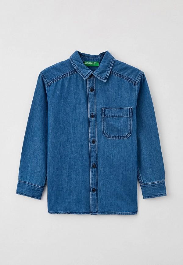 джинсовые рубашка united colors of benetton для мальчика, голубая